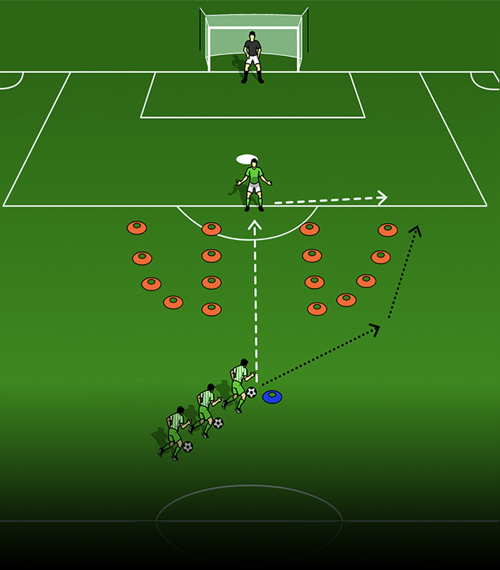 Agility Shooting Drill Vertical