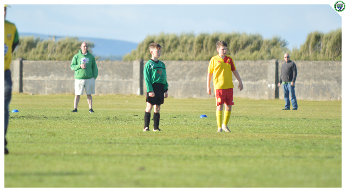 Killian Power in action in the U12 game between Sporting Ennistymon Football Club and Avenue United Football Club. Game played in Lahinch Sportsfield on the 11th of June 2019.