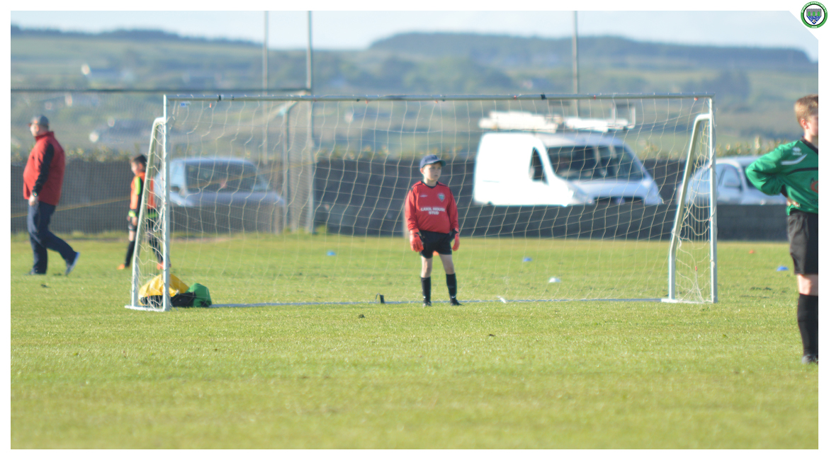 Cathal McNulty in action in the U12 game between Sporting Ennistymon Football Club and Avenue United Football Club. Game played in Lahinch Sportsfield on the 11th of June 2019.