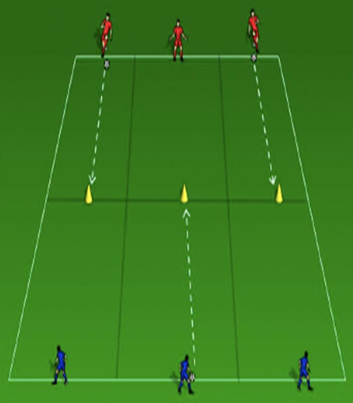 Knock the cone drill Sporting Ennistymon FC Coaches Corner