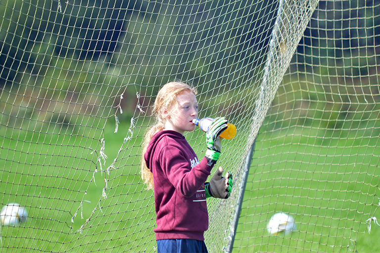 Shauna Coughlan takes a quick break during Sporting Ennistymon F.C's Summer Camp 2020