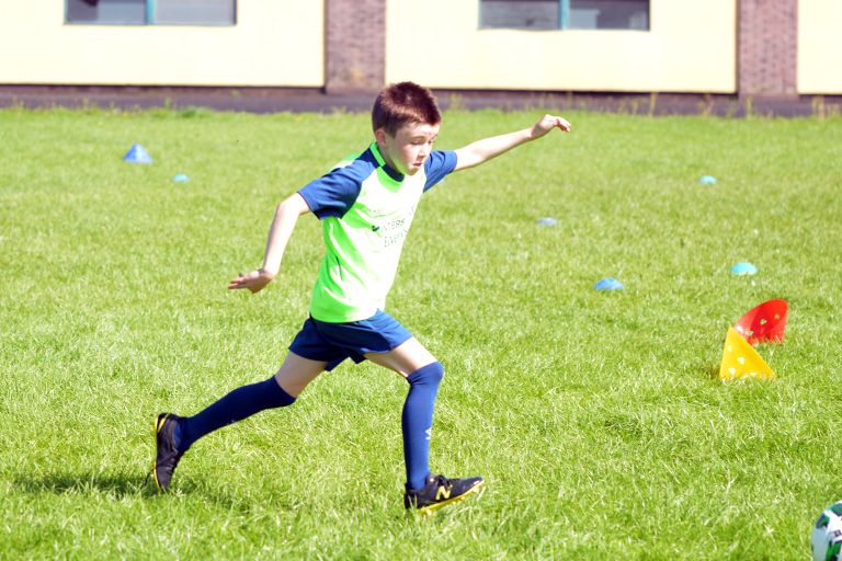 Cobhan Fahy in action during Sporting Ennistymon F.C FAI Summer Camp 2020