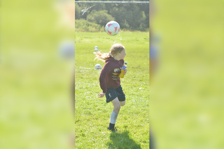 Shauna Coughlan attempts a Rainbow Flick during Sporting Ennistymon F.C FAI Summer Camp 2020