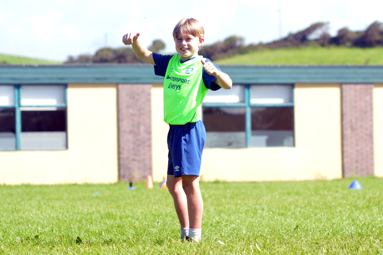 Thumbs up from Hugo during Sporting Ennistymon F.C FAI Summer Camp 2020