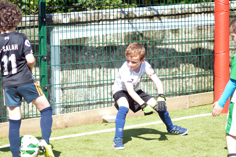 James O'Brien attempts to save a shot during Sporting Ennistymon F.C FAI Summer Camp 2020