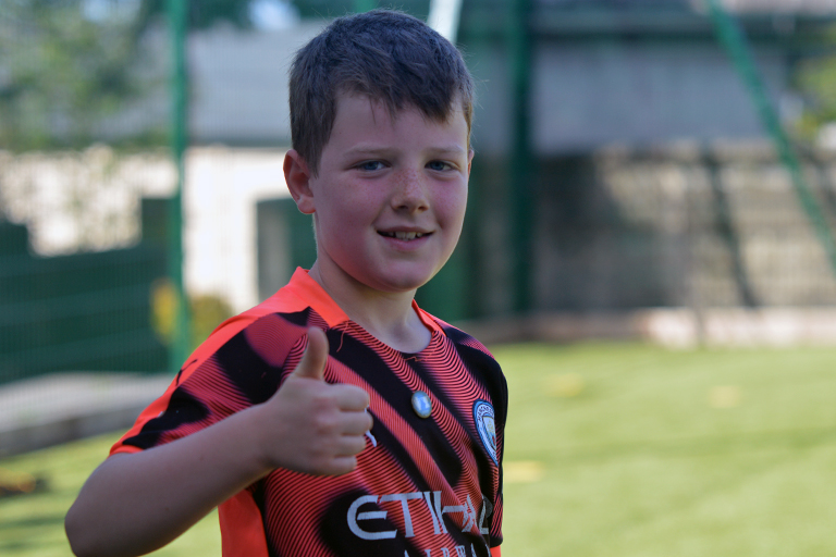 Thumbs up from Liam O'Neil during Sporting Ennistymon F.C FAI Summer Camp 2020
